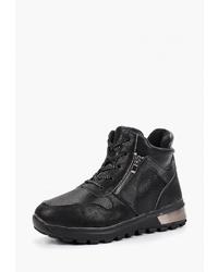 Женские черные кожаные ботинки на шнуровке от Vivian Royal