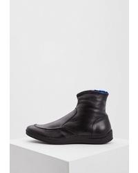 Мужские черные кожаные ботинки челси от Alberto Guardiani