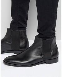 Мужские черные кожаные ботинки челси от Aldo