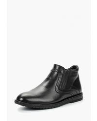 Мужские черные кожаные ботинки челси от Alessio Nesca