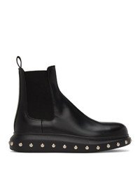 Мужские черные кожаные ботинки челси от Alexander McQueen