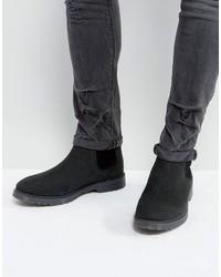 Мужские черные кожаные ботинки челси от Asos
