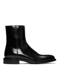 Мужские черные кожаные ботинки челси от Balenciaga