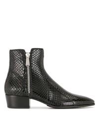Мужские черные кожаные ботинки челси от Balmain