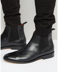 Мужские черные кожаные ботинки челси от Base London