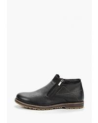 Мужские черные кожаные ботинки челси от Brado