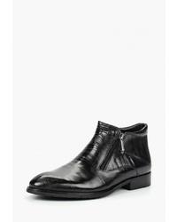 Мужские черные кожаные ботинки челси от Dino Ricci