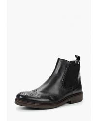Мужские черные кожаные ботинки челси от Floktar