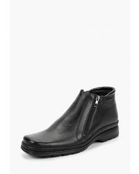 Мужские черные кожаные ботинки челси от Goodzone