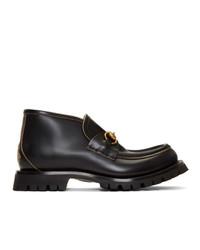 Мужские черные кожаные ботинки челси от Gucci