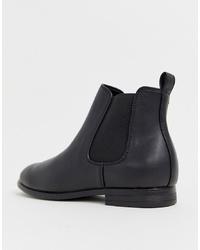 Мужские черные кожаные ботинки челси от Jack & Jones