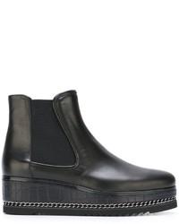 Женские черные кожаные ботинки челси от Loriblu