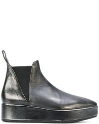 Женские черные кожаные ботинки челси от Marsèll