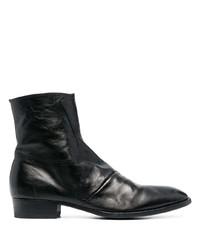 Мужские черные кожаные ботинки челси от Officine Creative