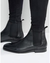 Мужские черные кожаные ботинки челси от Paul Smith