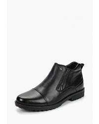 Мужские черные кожаные ботинки челси от Pierre Cardin