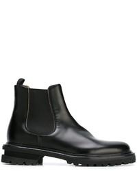 Мужские черные кожаные ботинки челси от Premiata
