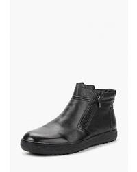 Мужские черные кожаные ботинки челси от Quattrocomforto