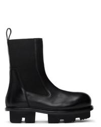Мужские черные кожаные ботинки челси от Rick Owens