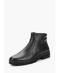 Мужские черные кожаные ботинки челси от SHOIBERG