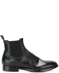 Мужские черные кожаные ботинки челси от Silvano Sassetti