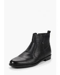 Мужские черные кожаные ботинки челси от T.Taccardi