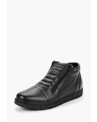 Мужские черные кожаные ботинки челси от
