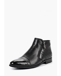 Мужские черные кожаные ботинки челси от Vitacci