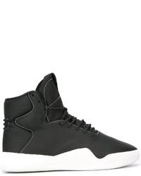 Мужские черные кожаные ботинки от adidas