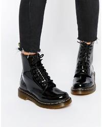 Женские черные кожаные ботинки от Dr. Martens