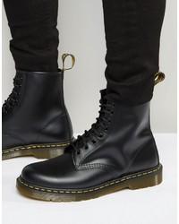 Мужские черные кожаные ботинки от Dr. Martens