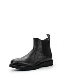 Мужские черные кожаные ботинки от GUARDIANI SPORT
