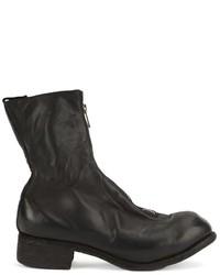 Мужские черные кожаные ботинки от Guidi