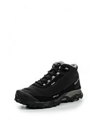 Мужские черные кожаные ботинки от Salomon