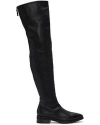Черные кожаные ботфорты от Marsèll