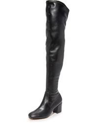 Черные кожаные ботфорты от Rebecca Minkoff