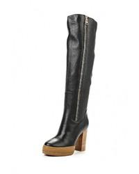 Женские черные кожаные ботфорты от Vitacci