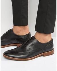 Мужские черные кожаные броги от Aldo