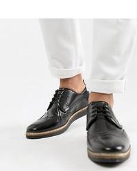 Черные кожаные броги от ASOS DESIGN