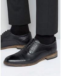 Мужские черные кожаные броги от Asos