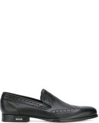 Мужские черные кожаные броги от Baldinini