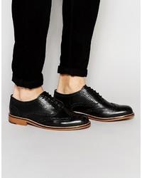Мужские черные кожаные броги от Ben Sherman