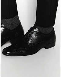 Мужские черные кожаные броги от Red Tape