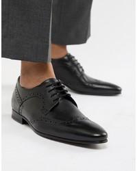 Черные кожаные броги от Ted Baker