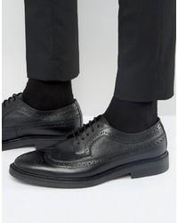 Мужские черные кожаные броги от Zign Shoes