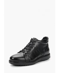 Мужские черные кожаные высокие кеды от Mascotte