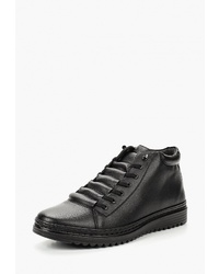 Мужские черные кожаные высокие кеды от T.Taccardi
