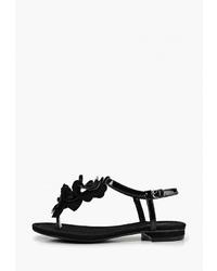 Черные кожаные вьетнамки от T.Taccardi