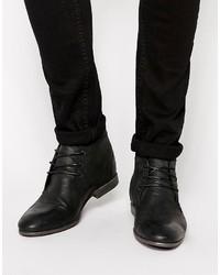 Мужские черные кожаные дезерты от Asos