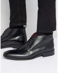 Мужские черные кожаные дезерты от Base London